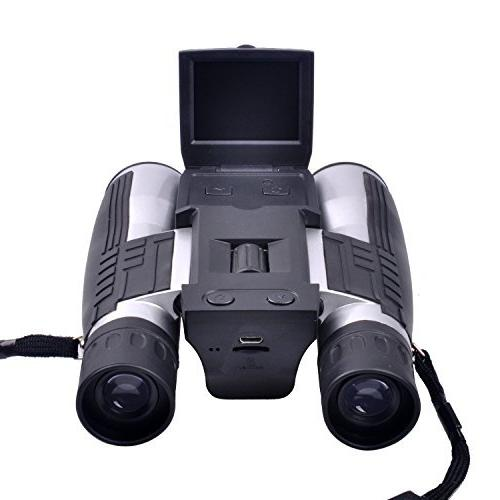 """KINGEAR Camera Binoculars with 2"""" LCD Screen"""