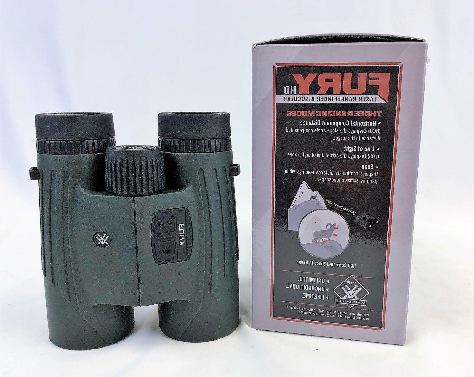 fury 10x42 range finding binoculars