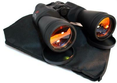 Huge Day/Night Prism Zoom Binoculars 20-50x70 Ruby Lenses