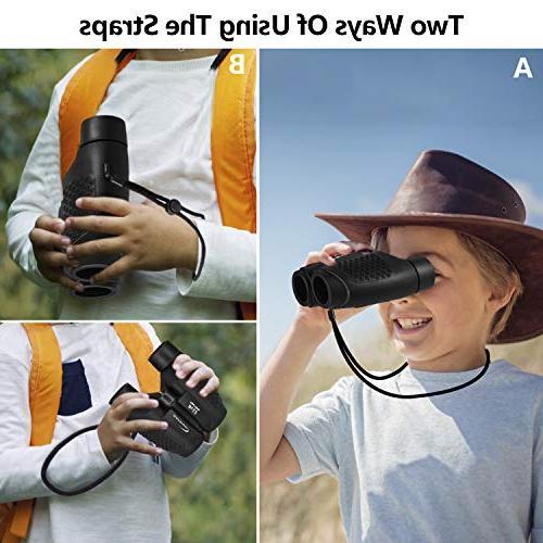 Aurosports Auto Binoculars Shockproof 8x22 for for Hiking Watching