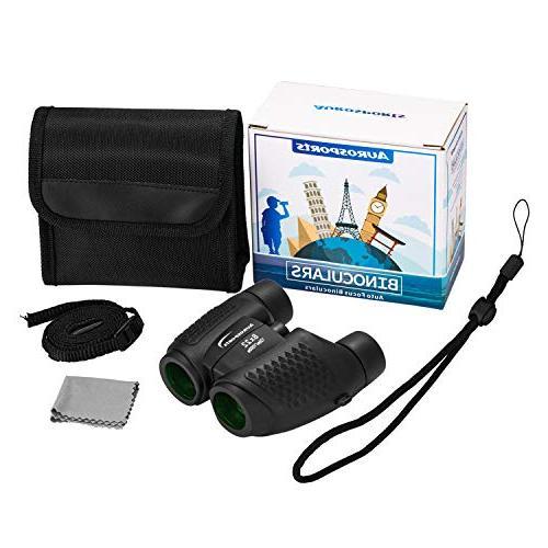Aurosports Focus Binoculars with Shockproof 8x22 Binoculars for Christmas Present Gifts for Hiking Bird Watching