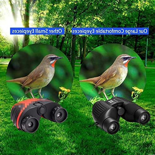 Aurosports Auto Focus Binoculars with Shockproof Binoculars for Children, Present Best Toy for Watching