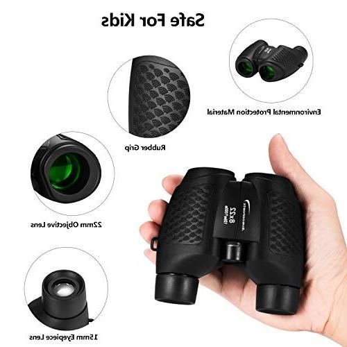 Aurosports Kids Binoculars with Shockproof Binoculars for Children, Christmas Birthday Present Best Toy for Watching