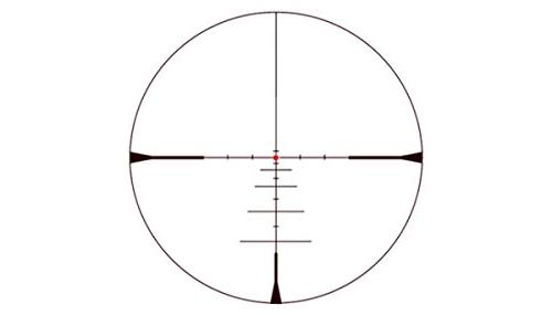 Konuspro 3X-9X40 Riflescope with Dot, Ballistic Reticle