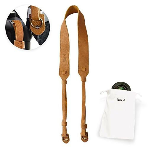 b.still Leather Camera Shoulder Neck Strap for Leica Canon N