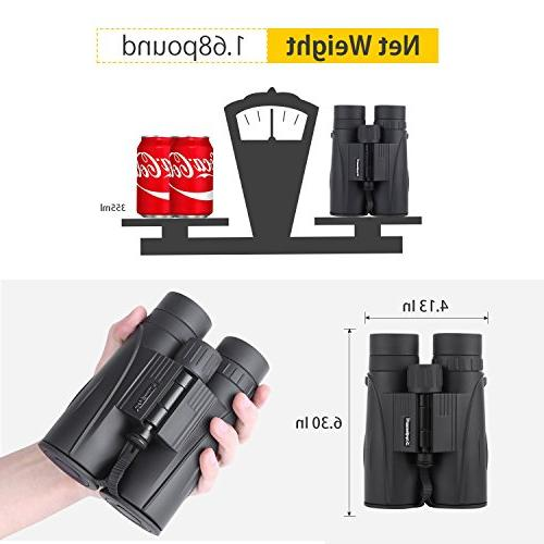 8x42 Binoculars for Adults. Durable HD Clarity Binoculars for Watching with Case Strap Lens Cap