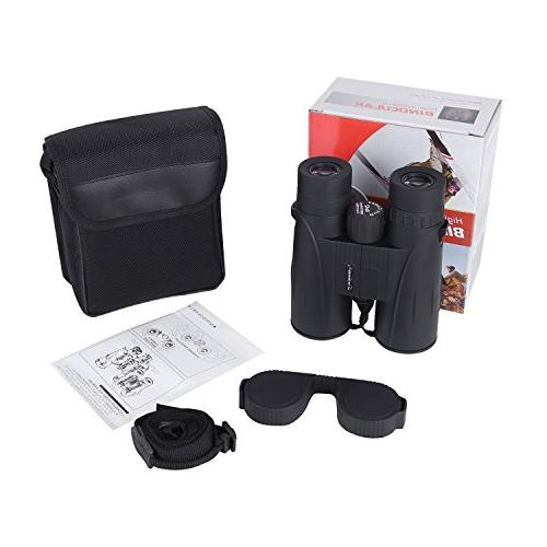 8x42 Full-Size for Adults. Durable HD Binoculars Sightseeing Hunting Sporting with Carrying Case Lens