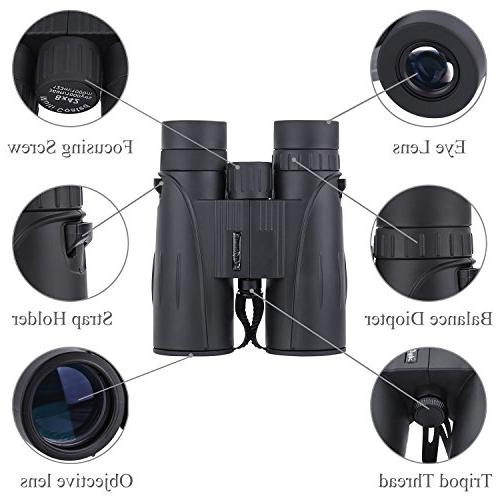 8x42 Full-Size for Adults. Durable Binoculars for Bird Sightseeing Hunting with Carrying Case Strap Lens