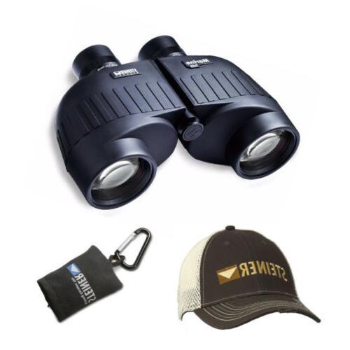 marine 7x50 binoculars with cap and microfiber