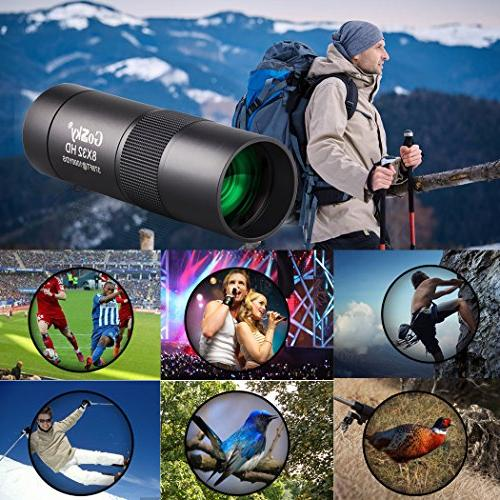 Gosky 8x32 Metal Telescope, HD Compact for Travelling Hiking