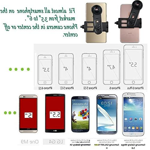 Microscope Adapter, Smartphone Camera for Microscope 23.2mm, Built-in WF 16mm Eyepiece Capture Record The in The
