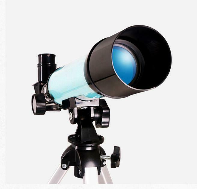 Mini astronomical refraction telescope photograph