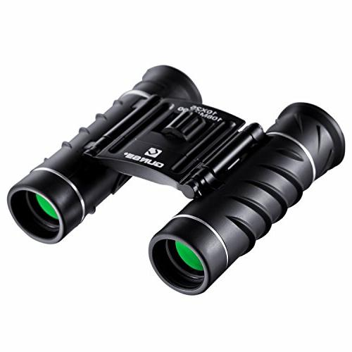 QUNSE Binoculars 10x25 Pocket for Adults for Watching, Hunting and Games