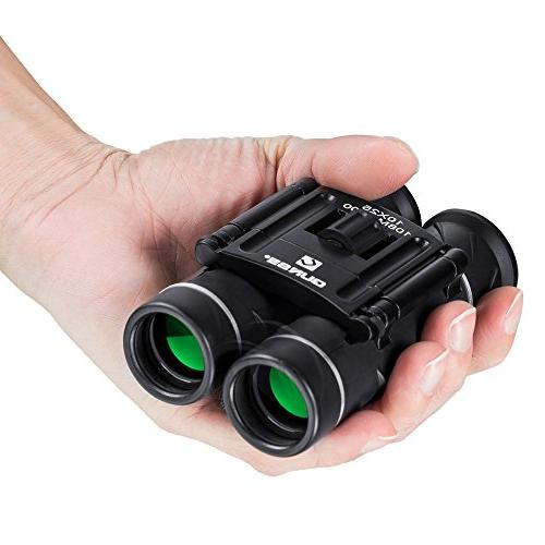 QUNSE Mini 10x25 Clear Optical Ultra-Vision, for Bird for Hunting and Outdoor Sports Games
