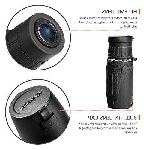 Monocular Palm Size Clear Bright Images Waterproof   HD Wildlife Hiking Sporting Events
