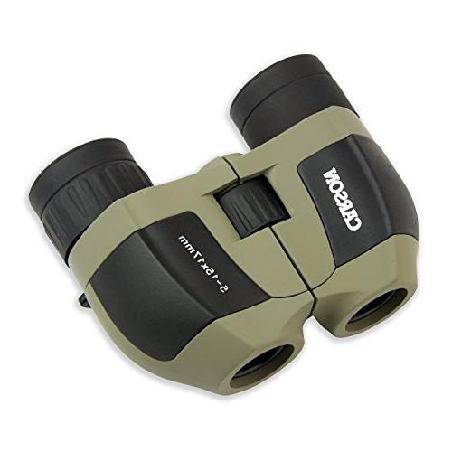 Carson MiniZoom 5-15x17mm Compact and Zoom Binoculars for Watching, Sight-Seeing, Hunting and Outdoor