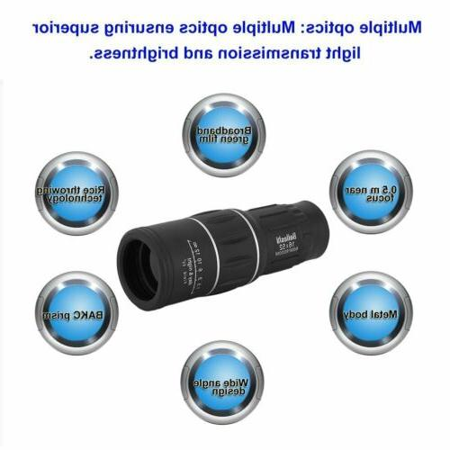 Dual Focus Optic Lens Armoring Monocular Travel Binoculars HX