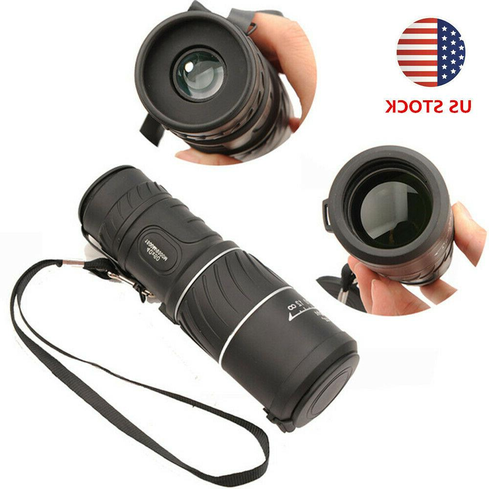 monocular 40x60 zoom handheld hd low light