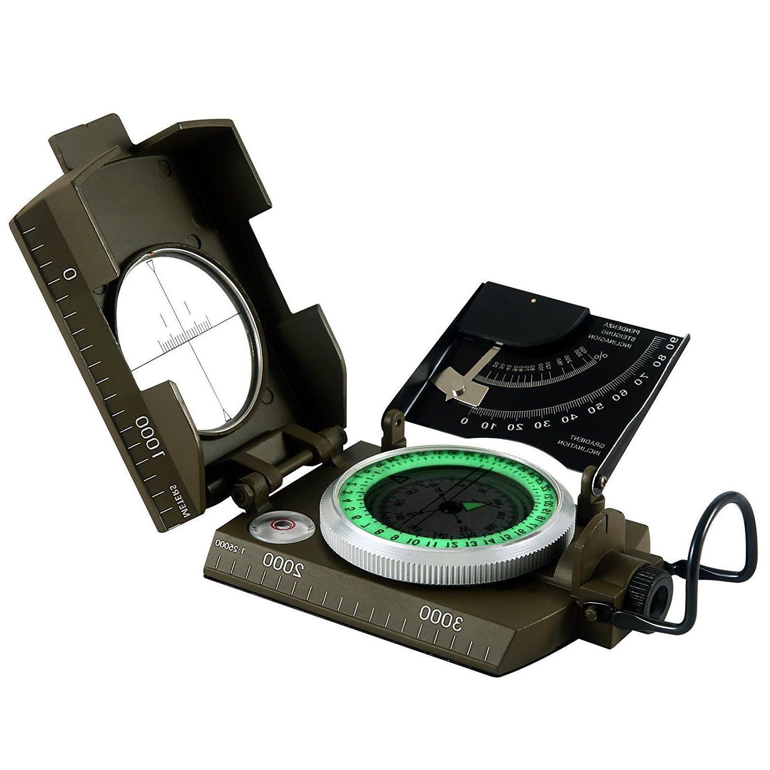 multifunction military army sighting compass with inclinomet