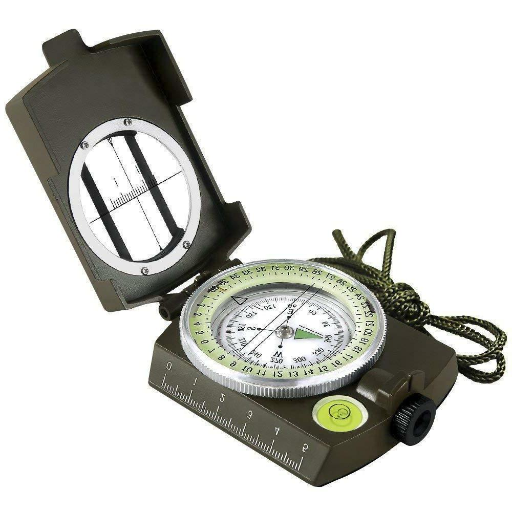 multifunctional military army aluminum alloy compass