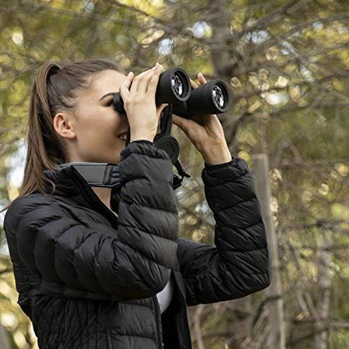 BlueCabi Neoprene - Wide Comfortable Adjustable Anti-Slip Neck/Shoulder Belt Strap Perfect Binoculars, Cameras - Grey