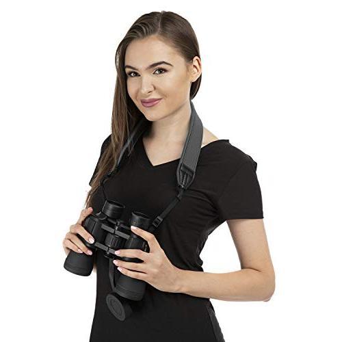 BlueCabi Neoprene Neck for Cameras - Wide Comfortable Adjustable Strap Perfect Cameras