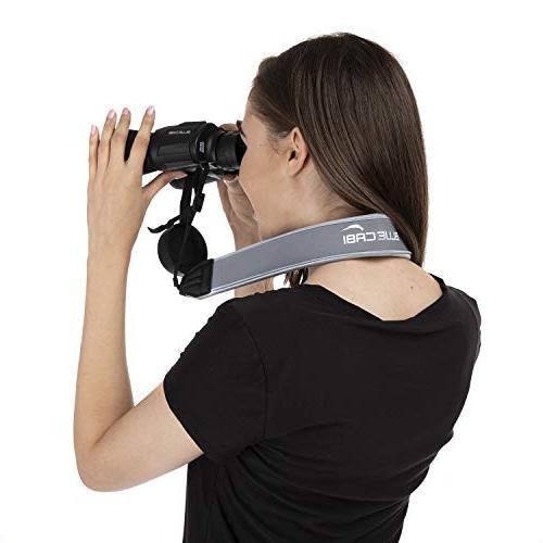 BlueCabi for Cameras - Wide Comfortable Unisex Adjustable Belt Strap - Perfect for Cameras - Grey