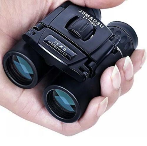 New Binoculars Uscamel Folding Pocket Compact Travel Mini Bi