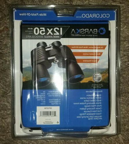 NEW BARSKA 12X50 MM BINOCULARS WIDE FIELD VIEW ANGLE