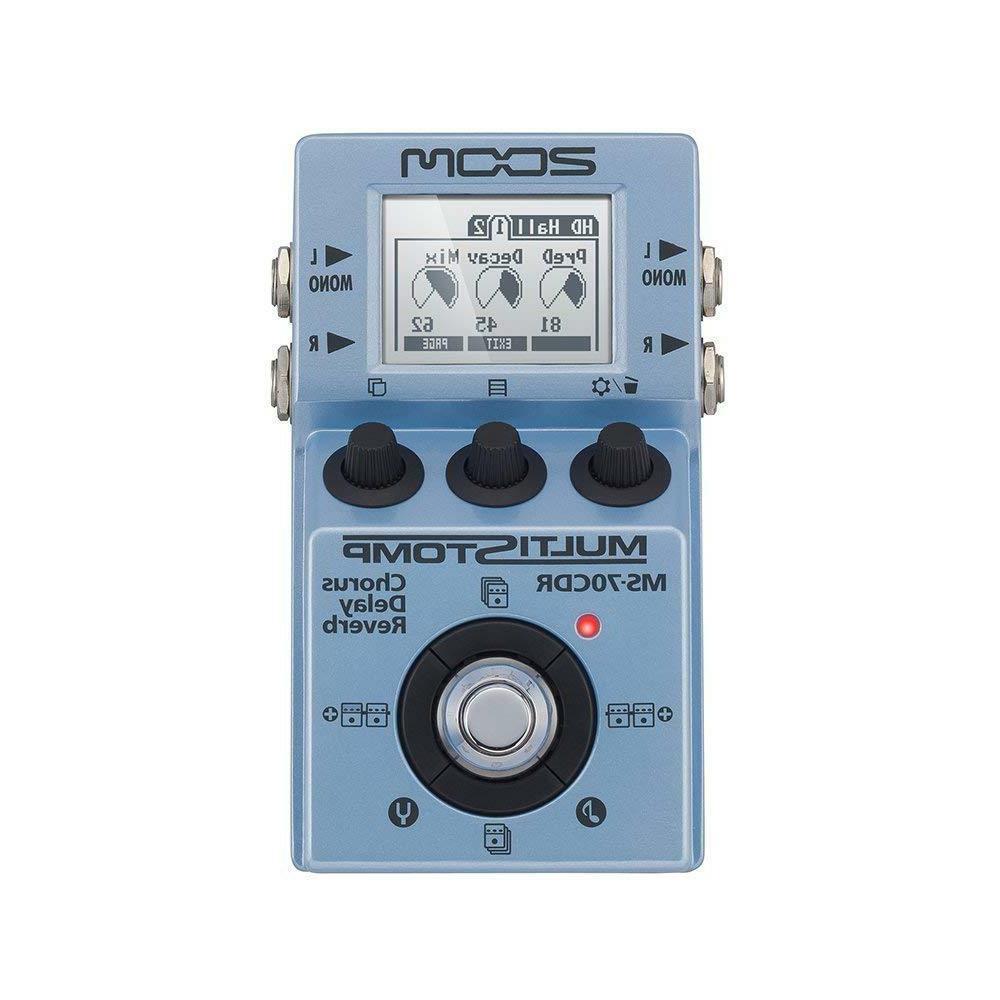 new multistomp chorus delay reverb pedal ms