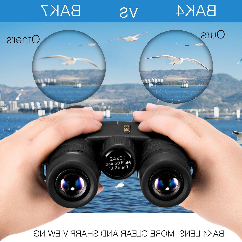 OMZER High-powered Fogproof Binoculars With BAK4 FMC Lens