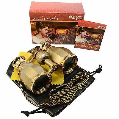 opera glass binocular antique golden