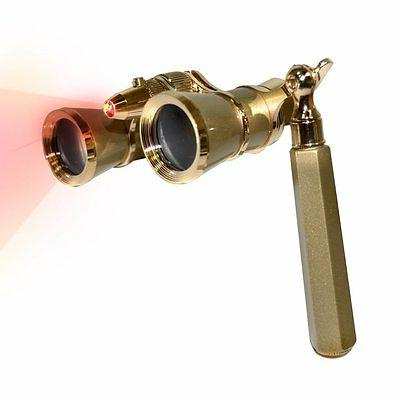 HQRP 3x25 Opera Glasses Theater Glass Optics Binoculars Gold
