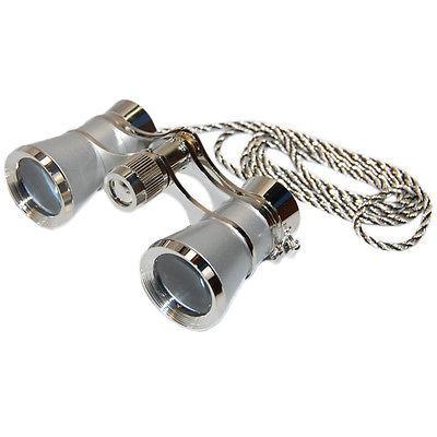 HQRP Opera Theatre Binoculars 3X25 Lady Glasses w/ Case Opti