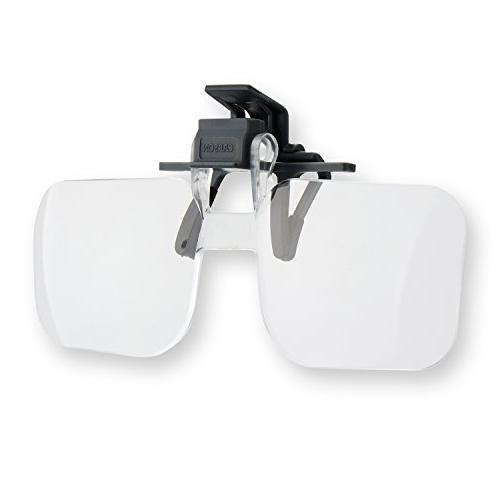 Carson Optical Clip and Flip 1.5x 2.25 Diopters Magnifying L
