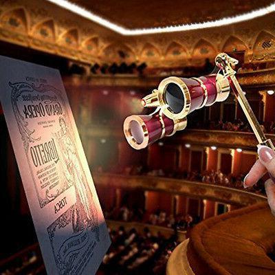 HQRP Opera Burgundy Binocular Gold Trim