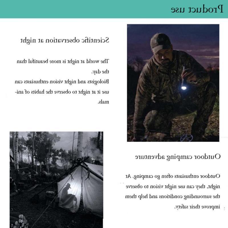 Outdoor Hunting Infrared Night Headband Binoculars