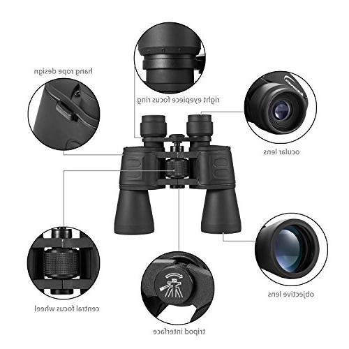 Aurosports 10x50 High Binocular With Low Night Vision For Birding Watching, Opera, Concert, Sports, Sightseeing, Business Visit etc.