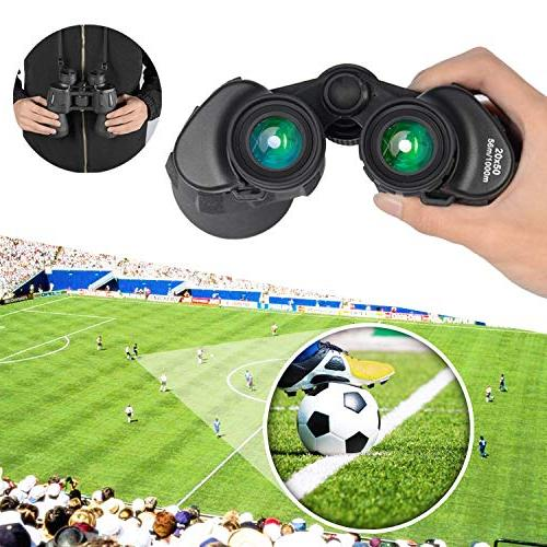 20x50 Power Military Binoculars, HD Waterproof Adults Hunting Prism Lens-with Case and