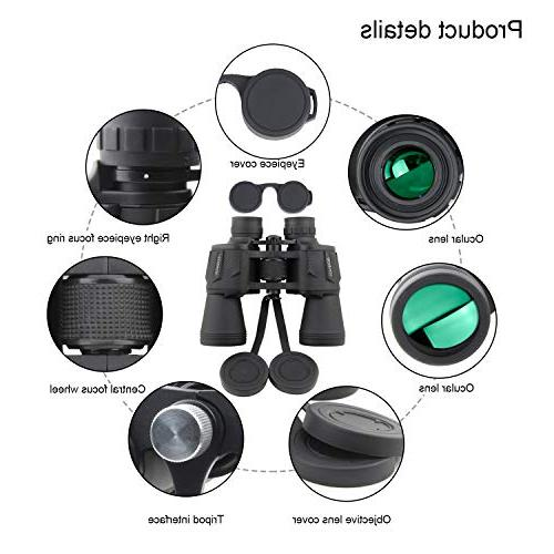 Binoculars, Compact HD Waterproof Adults Hunting Prism Lens-with Case