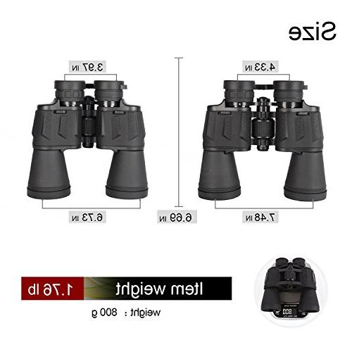 20x50 High Power Military Binoculars, HD Professional/Daily Waterproof Telescope Adults Hunting Football-BAK4 Prism Lens-with