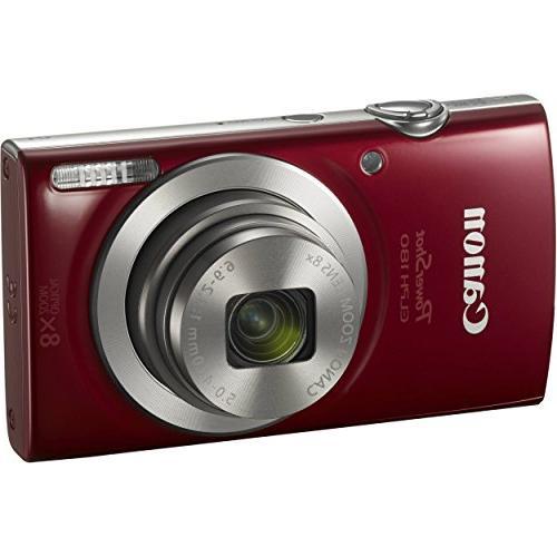 Canon 20 MP Digital Camera Red Bundle