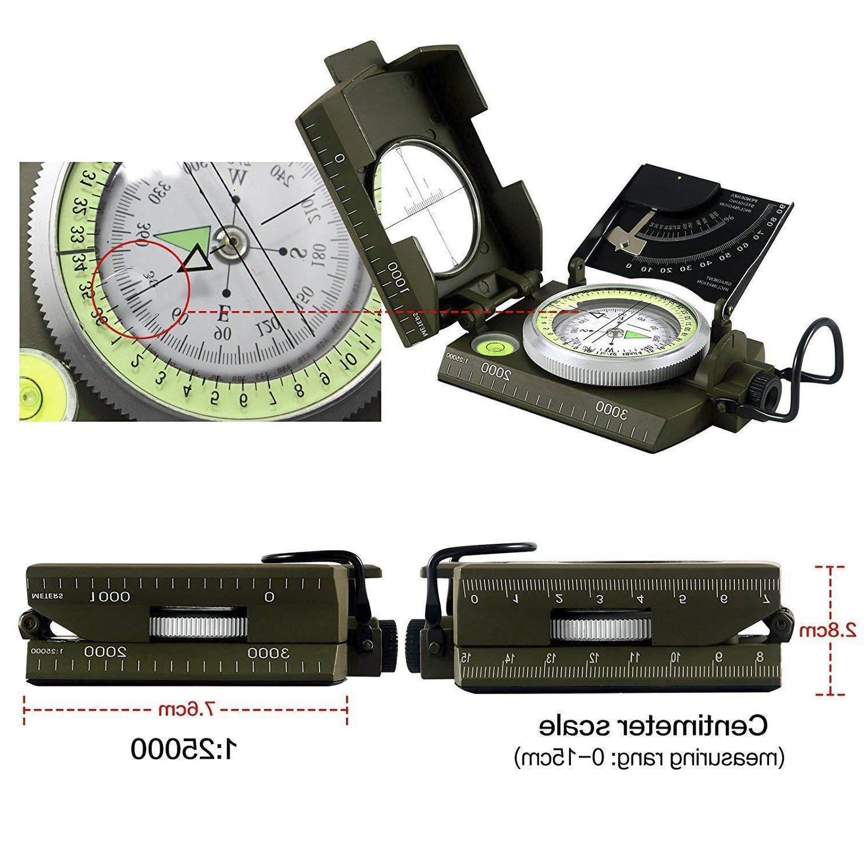 Eyeskey Military Metal Sighting Compass Inclinometer