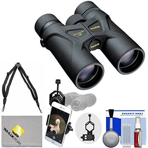 Nikon 3S Waterproof Binoculars with + Smartphone Cleaning