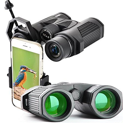 Gosky Roof Prism 8X32 Binocular FMC Green Film Lens Outdoor As Climbing, Hiking, Driving, Wildlife And