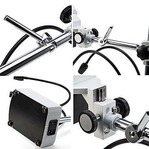 SWIFT S41-20 Binocular Microscope, WF10x WF20x Eyepieces, Magnification, LED Lighting, Boom-Arm