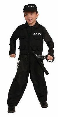Swat Team Uniform Cop Policeman Police Man Officer Child Boy