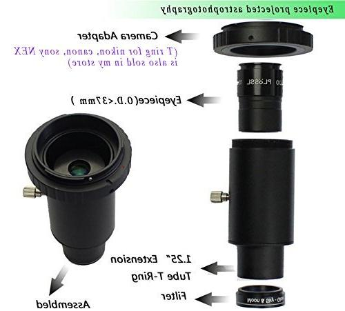 """Gosky 1.25"""" T and / Ring Adapter for SLR/DSLR Cameras - be Used for Focus Photography"""