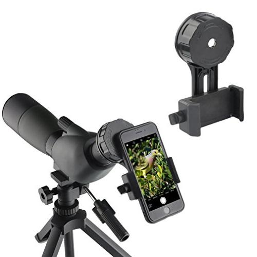 Gosky Telescope Phone Photo Adapter Aligned Cell Phone Mount - Binoculars Fit Almost Brands of