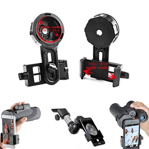 Gosky Adapter Cell Phone Mount - Compatible Binoculars Fit Almost All Brands